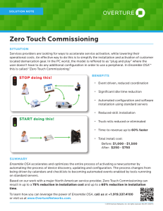 Zero Touch Commissioning
