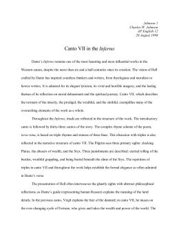 Inferno critical essay