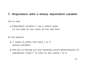 7. Regression with a binary dependent variable