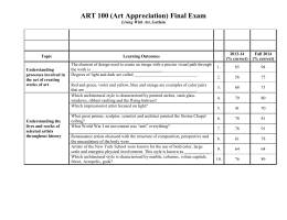 ART 100 (Art Appreciation) Final Exam