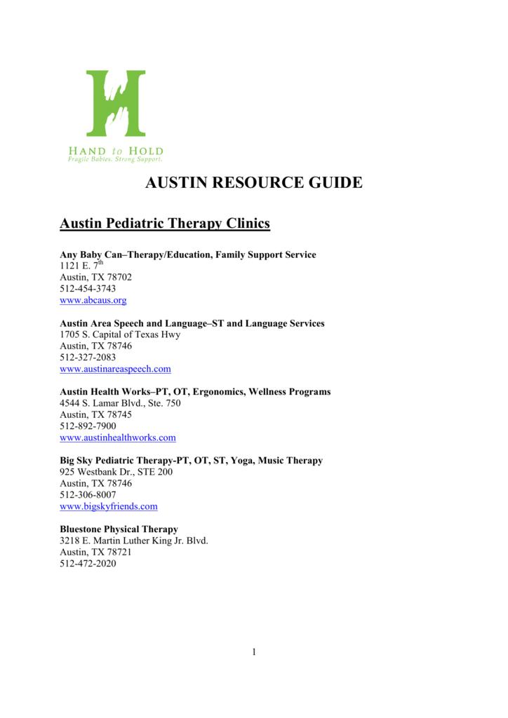 austin resource guide rh studylib net Resource Guide Template Case Management Resource Guide