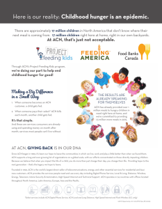 Here is our reality: Childhood hunger is an epidemic.