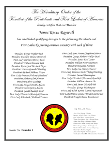 The Hereditary Order of the Families of the Presidents and First