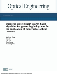 Improved direct binary search-based algorithm for generating