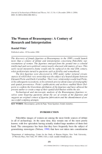 The Women of Brassempouy: A Century of Research and