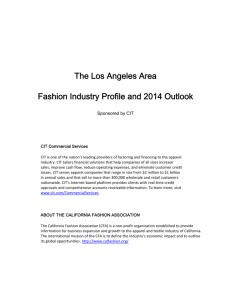 The Los Angeles Area Fashion Industry Profile and 2014 Outlook