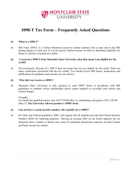 Frequently Asked Questions About the 1098-T Tax Form