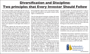 Diversification and Discipline: Two principles that Every Investor