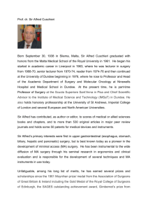 Prof. dr. Sir Alfred Cuschieri Born September 30, 1938 in