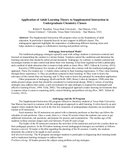 pedagogy versus andragogy essay Now read the themed thinkpiece on adult learning that looks at knowles'  approach to andragogy knowles' work helped to distinguish between pedagogy  and.