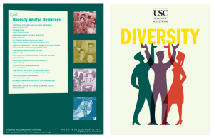 Diversity Brochure - USC School of Social Work