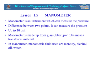 Lesson 1.5 MANOMETER - ITI Pardi Home Page