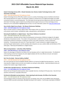2015 CSUF Affordable Course Material Expo Sessions March 24