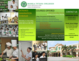 courses offered - Manila Tytana Colleges