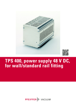 TPS 400, power supply 48 V DC, for wall/standard