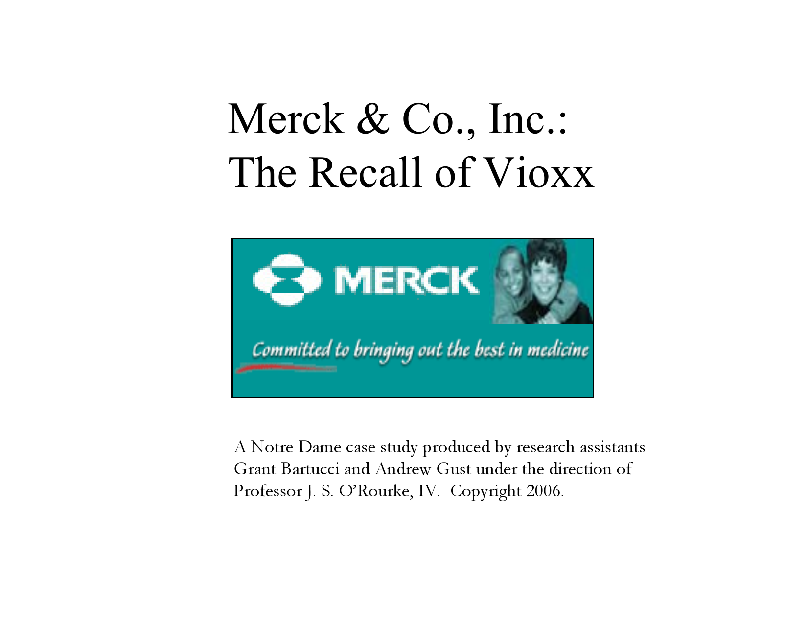 merck the fda and the vioxx recall case study answers
