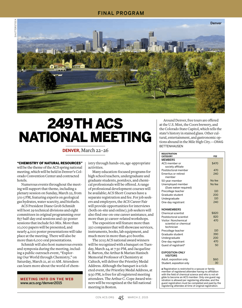 249th acs national meeting chemical engineering news fandeluxe Choice Image