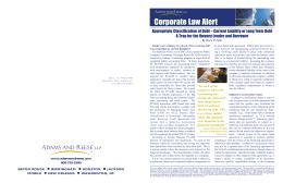 Corporate Law Alert - Adams and Reese LLP