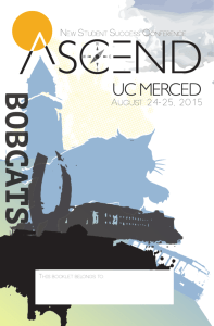 THIS booklet belongs to - ASCEND New Student Success Conference