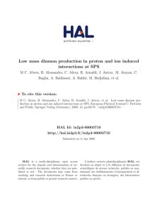 Low mass dimuon production in proton and ion induced