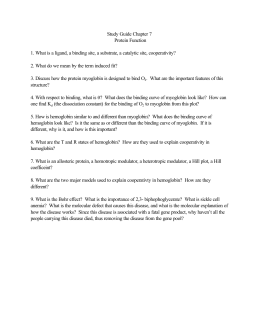 Study Guide Chapter 7 Protein Function 1. What is a ligand, a