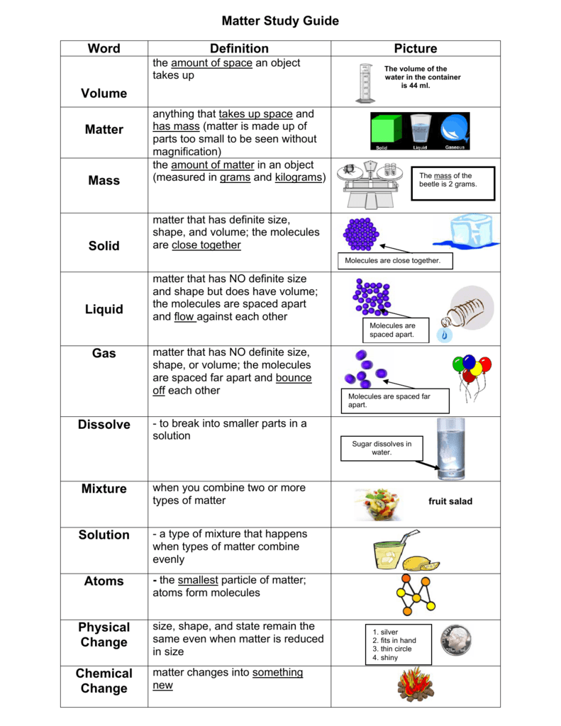 State Of Matter Definition Manual Guide