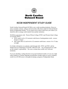 Independent Study Guide for Academic Credit
