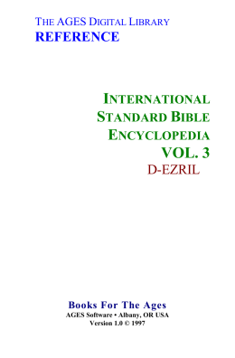 International Standard Bible Encyclopedia vol. 3