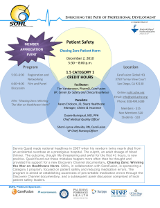Patient Safety - San Diego Organization of Healthcare Leaders