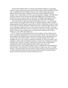 Krik krak literary analysis essay