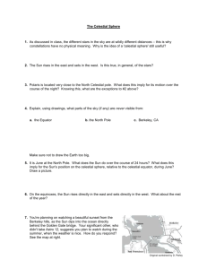 Worksheet: The Celestial Sphere