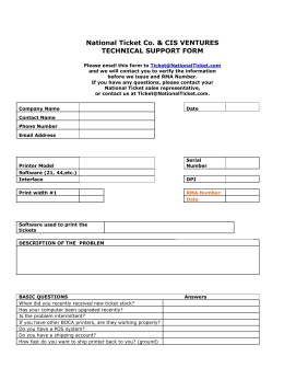 cis ventures technical support form