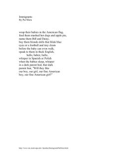 Poem curandera by pat mora