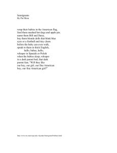 Tpcastt Poem Analysis Immigrants By Pat Mora Title