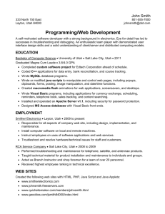 Web Development Resume