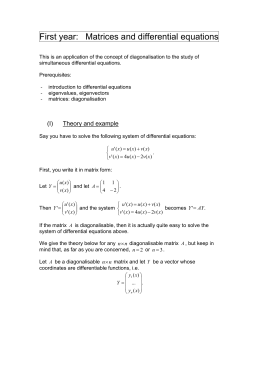 Matrices: differential equations