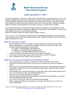 Teens And Identity Theft