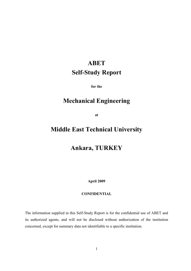 CS Self-Study Questionnaire - METU