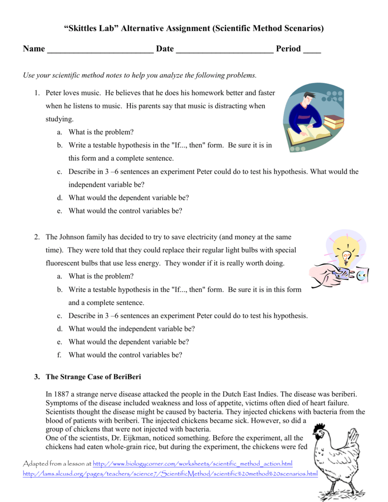 Ms Scientific Method Scenarios