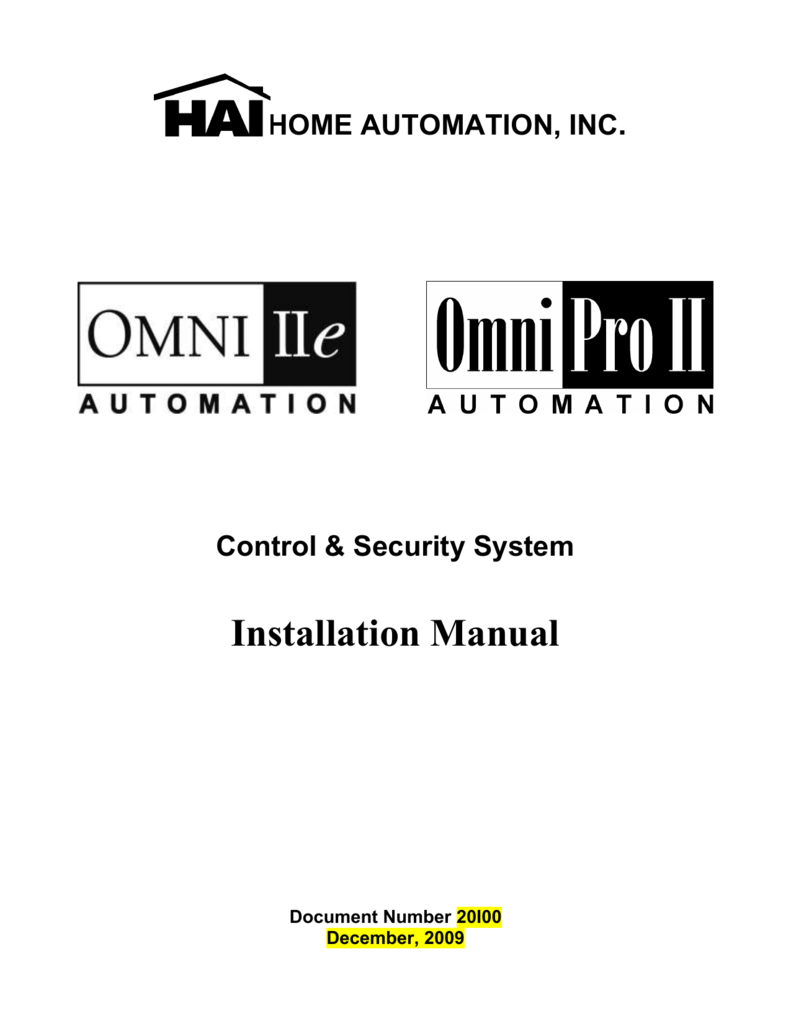Omni IIe and OmniPro II Installation Manual - Home Omnipro Wiring Diagram on