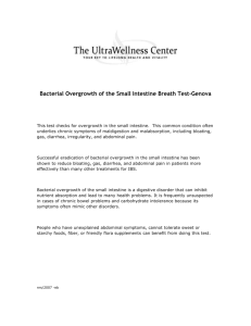 Bacterial Overgrowth of the Small Intestine Breath Test