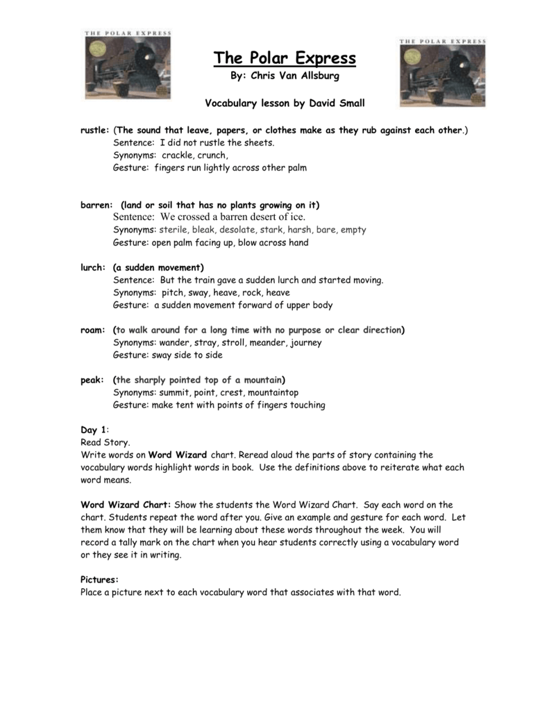 sc 1 st  studylib.net & Polar Express - Vocabulary Lessons