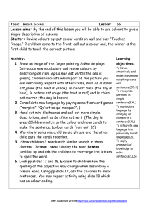 Lesson plan - Light Bulb Languages