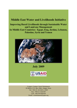 WLI - Middle East Water and Livelihoods Initiative