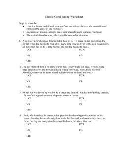 Classical Conditioning Practice Worksheets for all | Download and ...