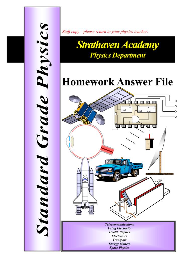 strathaven academy higher physics homework