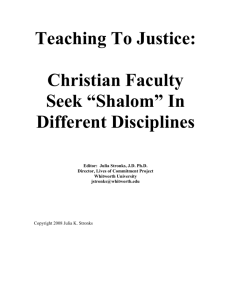 Teaching to Justice - Council for Christian Colleges & Universities