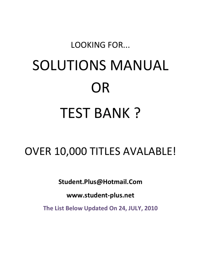 solutions manual rh studylib net