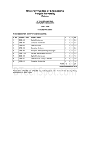B.Tech(Computer Engineering) Part-II(Semester