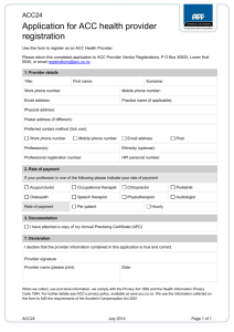 ACC024 Application for ACC health provider registration
